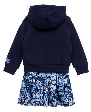 Mädchen-Kleid mit 2-in-1-Effekt Camou tiger KENZO