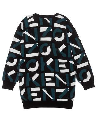 Mädchen-Pulloverkleid Logo Jacquard KENZO