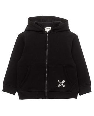 Mädchen-Kapuzenpullover mit Zip Kenzo Big X KENZO