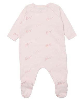 Logo printed baby all-in-one KENZO