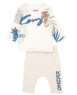 Multi Icons printed baby pyjamas KENZO