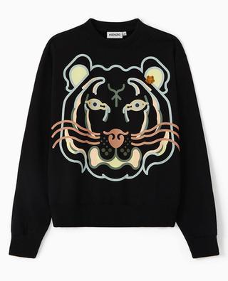 Rundhals-Sweatshirt mit Print K-Tiger WWF Capsule KENZO
