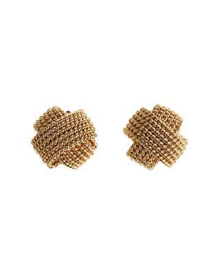 Clips d'oreilles dorés noeud ART 627 POGGI