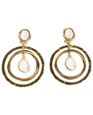 Clips d'oreilles avec anneaux et cristaux FAST22 POGGI