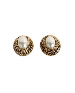 Clips d'oreilles dorés avec perles GLAM50 POGGI