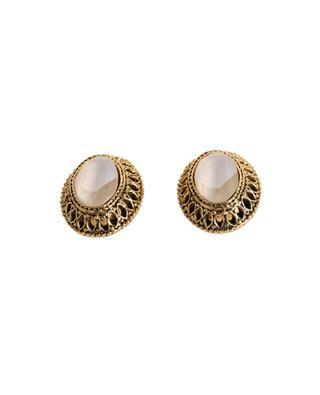 Clips d'oreilles dorés avec cristaux GLAM50 POGGI