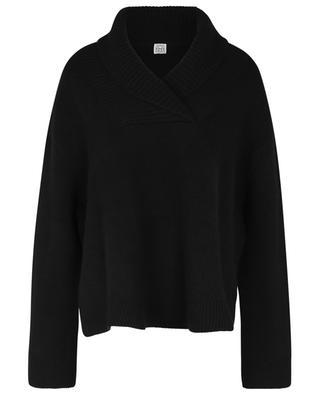 Pull en tricot à col châle TOTÊME