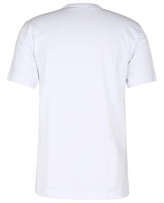 Kurzarm-T-Shirt mit Graffiti-Logoprint KAWS COMME DES GARCONS SHIRT