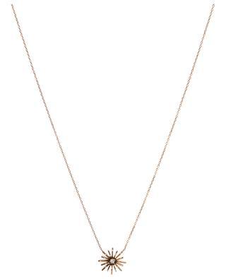 Collier en or rose et diamants Soleil Médium GBYG