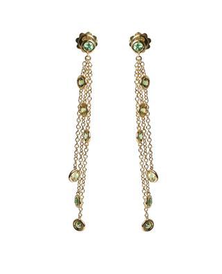 Boucles d'oreilles chaîne en or et tsavorite Reflet GBYG