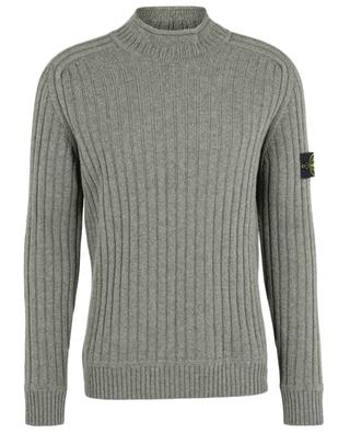 Compass virgin wool jumper with stand-up collar STONE ISLAND