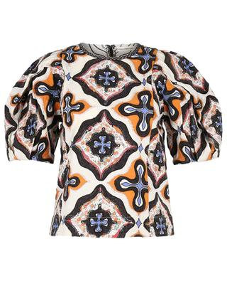 Gaia Prism patchwork patterned top ULLA JOHNSON