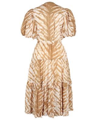 Magdalena tiger tie-dye printed voile shirt dress ULLA JOHNSON