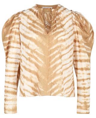 Madena tiger tie-dye printed blouse ULLA JOHNSON