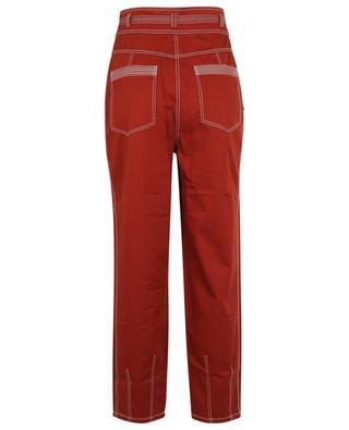 Lars high-rise gabardine carrot trousers ULLA JOHNSON