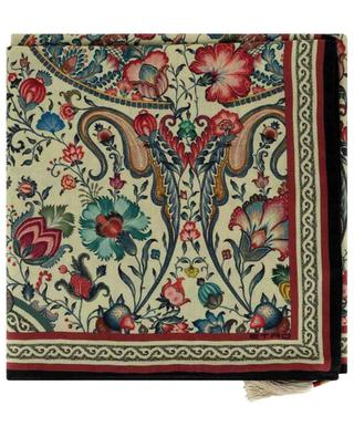 Grand foulard en cachemire et soie fleuri Bombay ETRO
