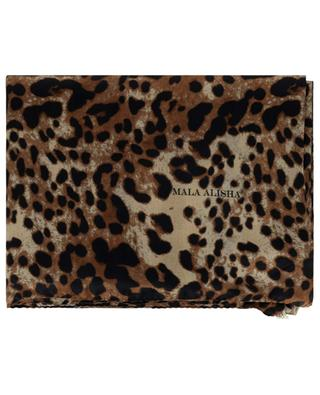 Materialmix-Schal mit Print Queen Brown Sugar MALA ALISHA