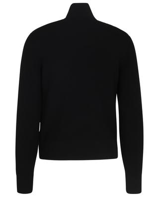 Woll-Cardigan mit Dauneneinsätzen und mattem Logo MONCLER
