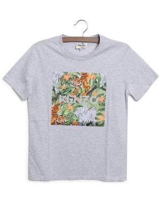 T-shirt garçon à manches courtes imprimé Jungle Tiger KENZO