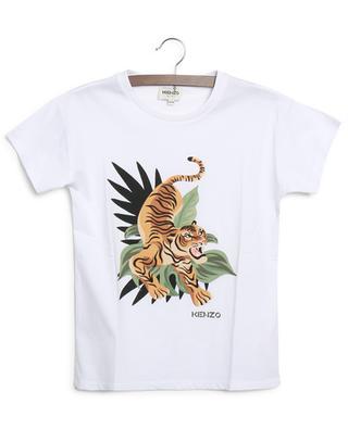 T-shirt garçon à manches courtes imprimé Jumping Tiger KENZO