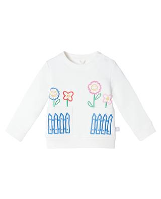 Garden embroidery pocket sweatshirt for girls STELLA MCCARTNEY KIDS