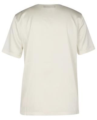 Bead embroidered satin T-shirt FABIANA FILIPPI