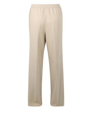 Bead stripe adorned fluid wool wide-leg trousers FABIANA FILIPPI