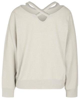 Soft boxy jumper with beaded back cut-out FABIANA FILIPPI