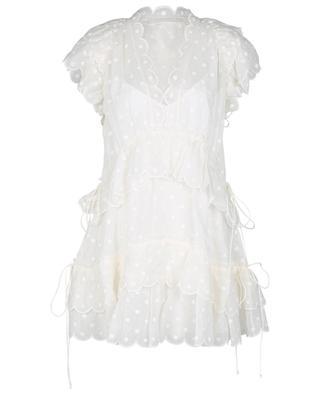 Mini robe à pois en ramie Mae Dot ZIMMERMANN
