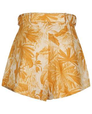 Short en lin imprimé Mae Palm Tuck Amber ZIMMERMANN