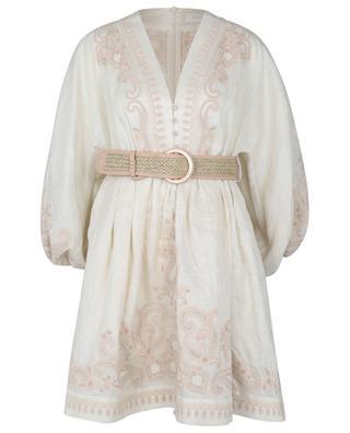 Mini robe en lin brodé Estelle Paisley ZIMMERMANN