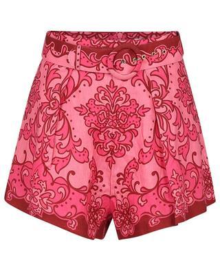 Shorts aus Leinen mit Gürtel Nina Watermelon ZIMMERMANN