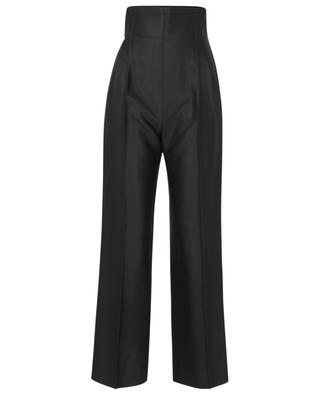 Pantalon taille haute en sergé ALAIA