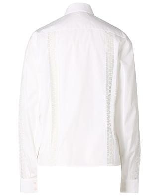 Langarm-Hemd mit Spitzeneinsätzen Popeline Soft ALAIA