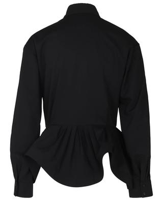 Chemise à basque en popeline de laine ALAIA
