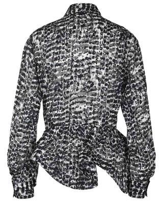 Chemise à basque en mousseline imprimée Plumage ALAIA