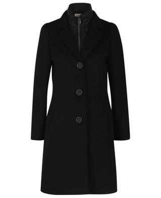 Manteau court en laine à col matelassé amovible CINZIA ROCCA