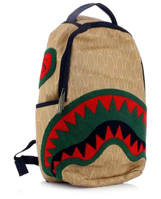 Spucci Gang printed backpack with terry patches SPRAYGROUND