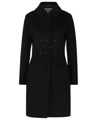 Manteau ajusté en laine détail Swarovski CINZIA ROCCA