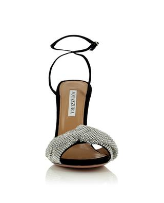 Sandalen mit Absatz aus Wildleder Crystal Twist 105 AQUAZZURA