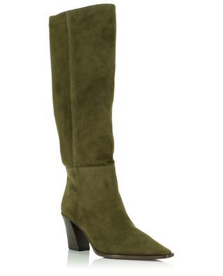 Stiefel aus Wildleder mit Absatz Matisse 70 AQUAZZURA