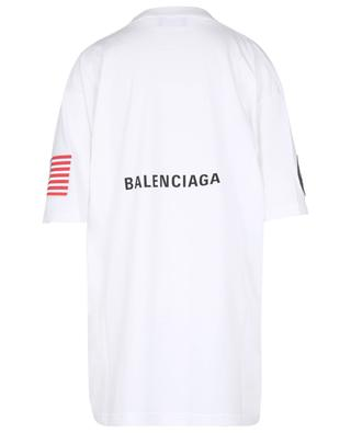T-shirt en jersey à patchs Space Boxy Fit BALENCIAGA