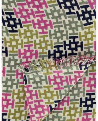 Feiner Schal mit dreifarbigen Monogrammen Aliki HEMISPHERE