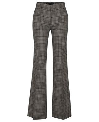 Ausgestellte Hose mit Glencheck-Karos aus Wolle BARBARA BUI