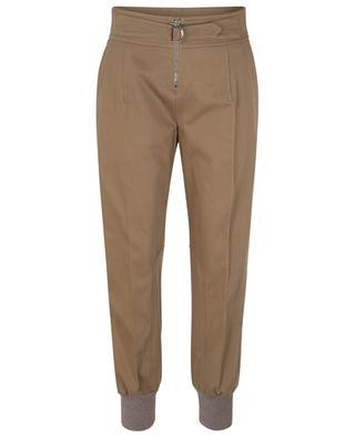 Pantalon cargo fuselé en sergé de coton CHLOE