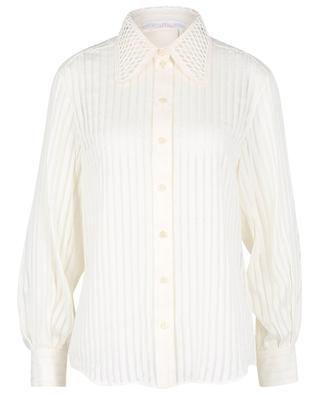 Striped cotton and silk jacquard shirt CHLOE
