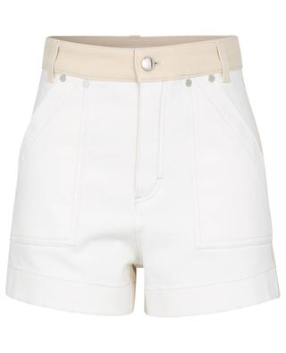Zweifarbige Cargo-Shorts aus Denim mit Logoprint CHLOE