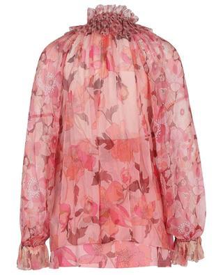 Concert flower printed georgette blouse ZIMMERMANN