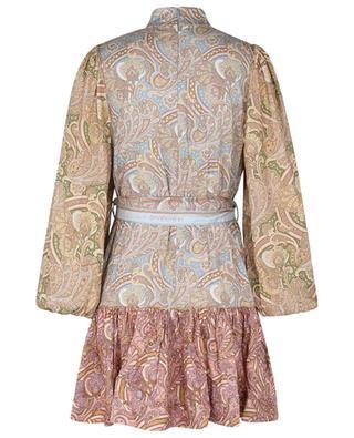 Mini robe en sergé de soie imprimée Paisley Tempo Buttoned ZIMMERMANN
