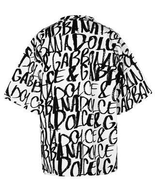 Boxy-T-Shirt mit Flock-Logoprint DOLCE & GABBANA